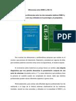 Tema de La Exposición Cátedra Psiquiatria Forense Las Diferencias CIE-10 y DSM-V PADJHS