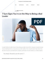 7 Sure Signs You'Re on the Way to Being a Bad Leader