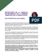MYRTHA. Importancia de La Libertad de Movimiento en La Genesis Temprana de La Subjetividad ARGENTINA