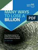 Many Ways To Lose A Billion