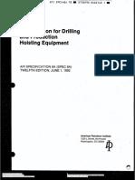 API Spec 8A  Spec for Drilling and Production Hoisting Equipment.pdf