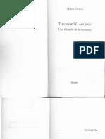 Theodor Adorno Una Filosofía de La Memoria. Marta Tafalla