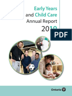 Ontario's Early Years and Child Care Annual Report 2019