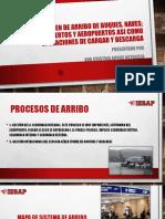 Procesos en de Arribo de Buques, Naves; Salidas de Puertos y Aeropuertos Asi Como Operaciones de Cargar y Descarga