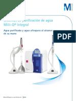 Merck Sistema de Purificacion de Agua Tipo i y II Milli-q Integral