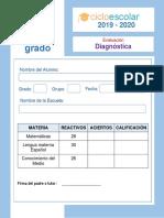 Examen Diagnostico Segundo Grado 2019-2020