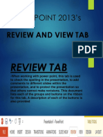 Review and View Tab
