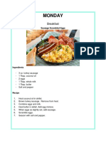 Keto Diet — Meal Plan
