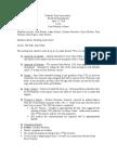 April Meeting Minutes 2010