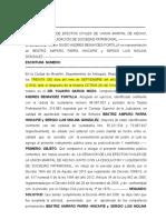 Cesacion de Union Marital de Hecho, Guido Benavidez