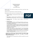 January Meeting Minutes 2010