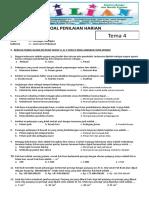 Soal Tematik Kelas 4 SD Tema 4 Subtema 1 Berbagai Pekerjaan Dan Kunci Jawaban (Www.bimbelbrilian.com)