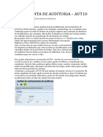 Log de Modificações No SAP_AUT10