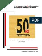 Contrato Colectivo de Trabajo 2019-2020
