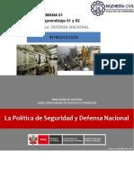 1. Politica de Seguridad de Defensa Nacional