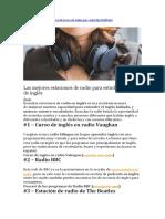Mejores Estaciones de Radios Pra Aprender Ingles