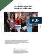 El Periodismo Deportivo Se Cuenta en Femenino