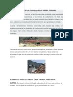 Caracteristicas de Las Viviendas en La Sierra Peruana1