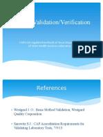 2014 Texas Clia Method Validation Verification Training