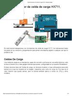 Tutorial Trasmisor de Celda de Carga HX711, Balanza Digital