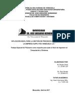 APLICACION MOVIL PARA LA GESTION DE PROCESOS ADMINISTRATIVOS DE LA EMPRESA SUPPLYTEX VENEZUELA C A 2017