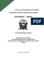 Reglamento de Elecciones de La Feundac- 2019
