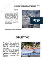 PROBLEMÁTICA DE SALUD PRESENTADA POR LOS TRABAJADORES DE