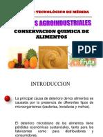3. Conservación Química de Alimentos