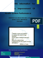 Use of DHIS for the Continuous Improvement of Health Systems
