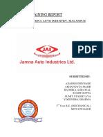 - Major Training Report-jamna Auto