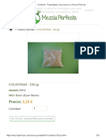 Resina de Colofonia - Propiedades y Usos