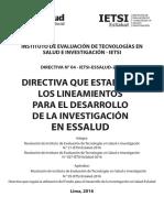 Directiva de Investigación EsSalud