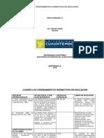 """3.1 Cuadro """"Los Ordenamientos Normativos en Educación""""."""