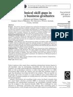 Non-technical skill gaps in ustralian business graduates