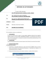 Informe de Actividades 1er Mes