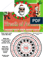 Christmas Wreath of Fortune Past and Present Verbs