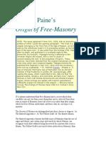 Thomas Paine the Origin of Freemasonry
