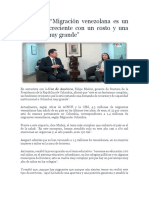 Artículo Sobre La Migración Venezolana en Colombia