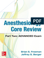 Anesthesiology Core Review Part Two-ADVANCED Exam 2016