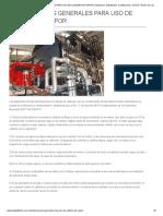 INSTRUCCIONES GENERALES PARA USO de CALDERA de VAPOR _ Instalación, Habilitación, Certificación y Control Técnico de Calderas y Termotanques