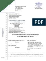 City of Tucson motion to dismiss suit over 'sanctuary city' legal questions