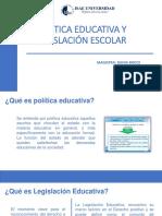Política Educativa y Legislación Escolar