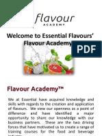 Flavour Academy Presentation 2019
