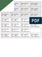 Pronouns Activity Cards