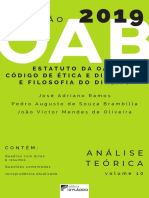 Colecao OAB - Estatuto da OAB - Codigo de Etica e Disciplina e Filosofia-do-direito analise-e-teorica - volume-10 - 2019