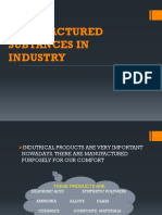 Manufactured Subtances in Industry