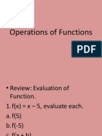 1.3 Operations of Functions