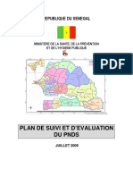 Plan de Suivi Evaluation Du Pnds