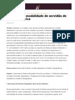 Anotações à Modalidade de Servidão de Energia Elétrica - Âmbito Jurídico