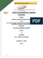 El Actual Dilema Constitucional Peruano